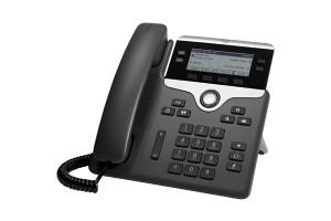 Cisco 7841 Handset met snoer 4regels LCD Zwart - Zilver IP telefoon
