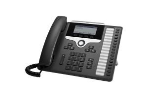 Cisco 7861 Handset met snoer 16regels LCD Zwart - Zilver IP telefoon